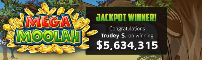 RoyalVegas Casino player wins $5,634,315 jackpot on Mega Moolah