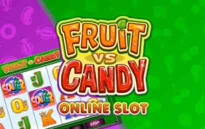 Fruit vs Candy - 50 free spins, wild symbols and scatter bonuses - review