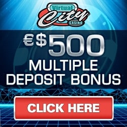 Virtual City Casino   €50 No Deposit + 500 free spins play   Review