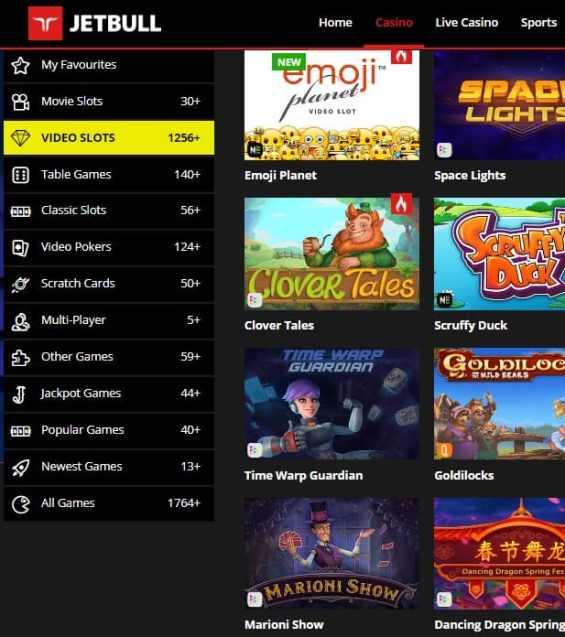 Jetbull Casino - free spins bonus