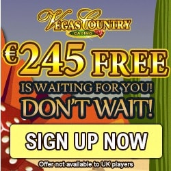Vegas Country Casino | 150% up to €245 bonus & 100 free spins | Review