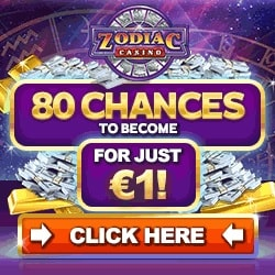 Zodiac Casino | 80 free spins on jackpot + €500 free bonus | Review