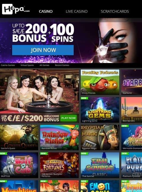 Hopa.com Casino Online & Mobile