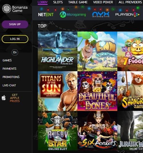 Bonanza Casino Review