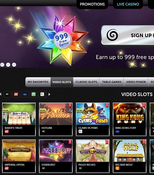 Spinson Casino Review