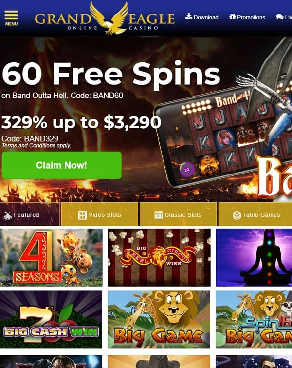 Grand Eagle Casino Login