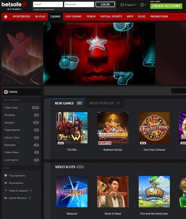 Betsafe.com Casino free spins bonus