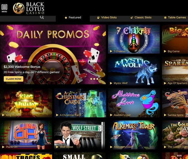 Black Lotus Casino Online & Mobile Review