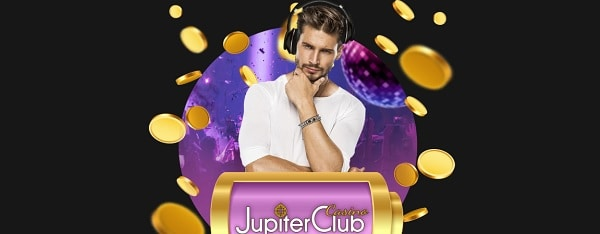 Jupiter Club Casino welcome bonus $1000 free and 25 USD bonus or 50 free spins