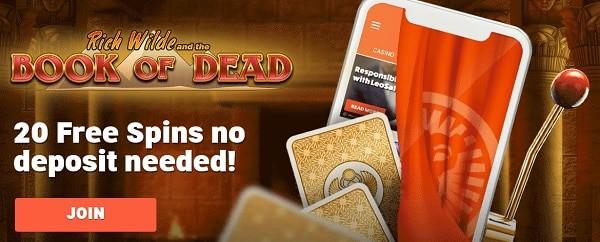 LeoVegas.com Casino welcome bonus and free spins