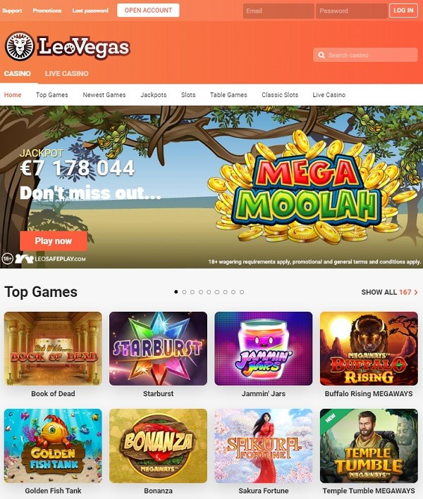 LeoVegas.com Casino review