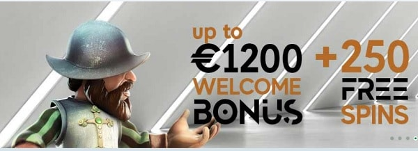 GoPro Casino 1200 EUR and 250 free bonus