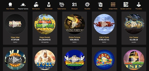 Jackpot Village Casino games and software providers