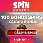 SpinCasino.com 100 free spins on Wheel of Wishes jackpot slot