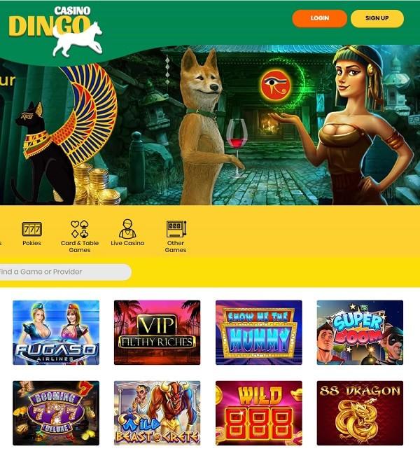 Dingo Casino | 400% up to €4000 bonus + 200 free spins | Review