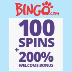 Bingo Casino 100 free spins NDB and 100% welcome bonus