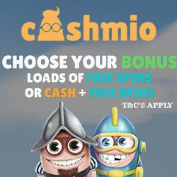 Cashmio Casino free spins