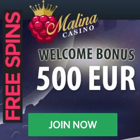 Malina Casino free spins