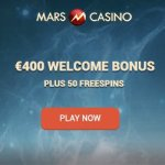 Mars Casino 50 free spins & 175% up to €400 or 4 Bitcoins free bonus