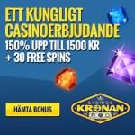 SverigeKronan Casino - 30 gratis spins och 1500 SEK free bonus