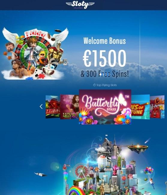 Sloty.com Casino free spins