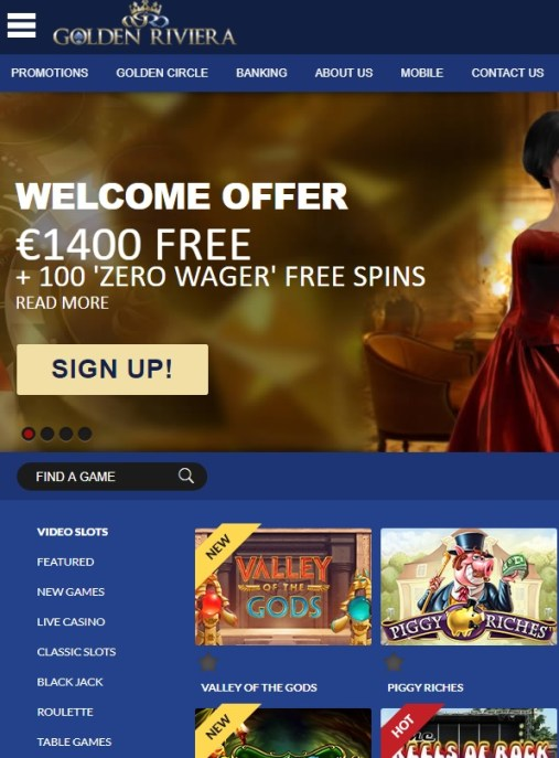 Golden Riviera Online Casino Review