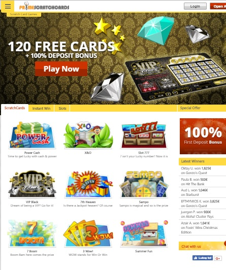 Prime Scratchcards Casino Online & Mobile