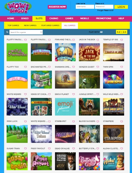 Wow Bingo UK online casino