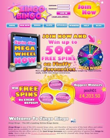 Zingo Bingo Casino Online & Mobile - free spins bonus