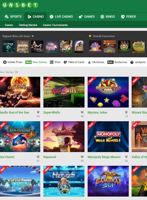 Unibet Casino Online & Mobile Review