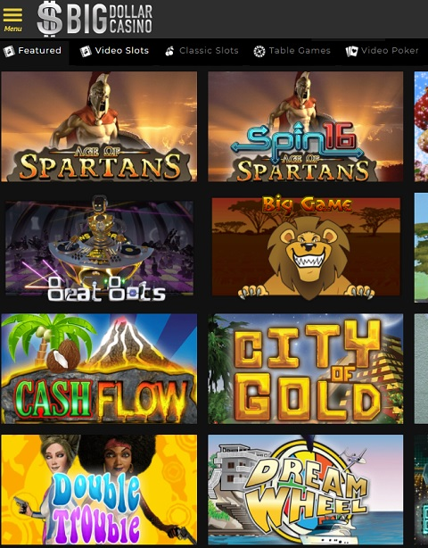 Big Dollar Casino free spins bonus code