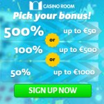 CASINO ROOM - 100 free spins and €/£/$ 5000 new player bonus