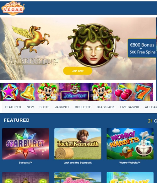 Freaky Vegas Casino Online and Mobile - free games!