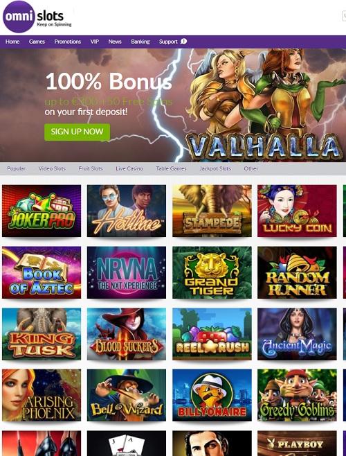 Omni Slots Casino bonus games