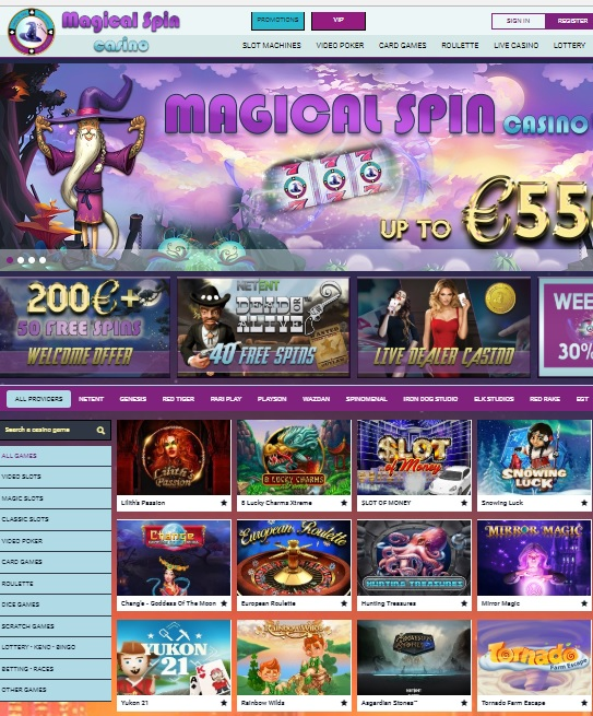 Magical Spin Casino free spins bonus