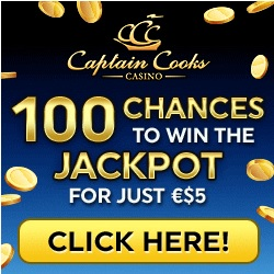 Captain Cooks Casino [register & login] - 100 free spins on Mega Moolah