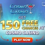 Cosmo Casino [register & login] 150 free spins bonus on Mega Moolah