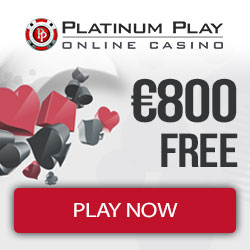 Platinum Play Casino [register & login] 50 free spins + €800 bonus