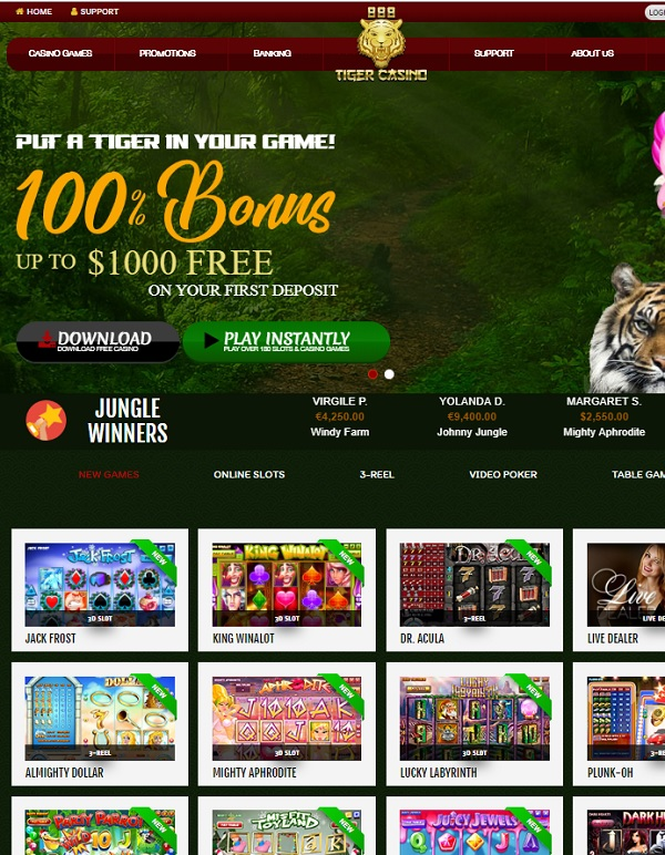 888 Tiger Casino online and mobile review
