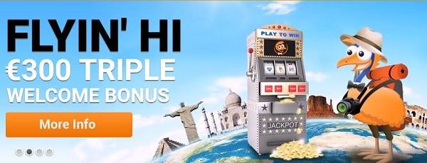 Emu Casino $300 bonus and 12 free spins