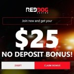Red Dog Casino $25 free no deposit + 225% welcome bonus