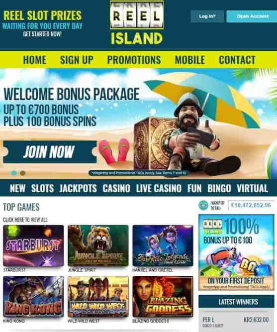 Reel Island Casino £€$ 700 free bonus and 100 free spins - CLOSED!