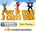 PRIME SCRATCH CARDS   120 free spins + 100% bonus + £200 gratis