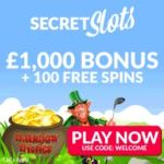 SECRET SLOTS – 100 free spins and 200% up to £1000 casino bonus