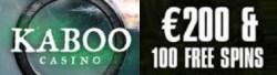 Kaboo Casino 100% up to €200 bonus and 100 free spins