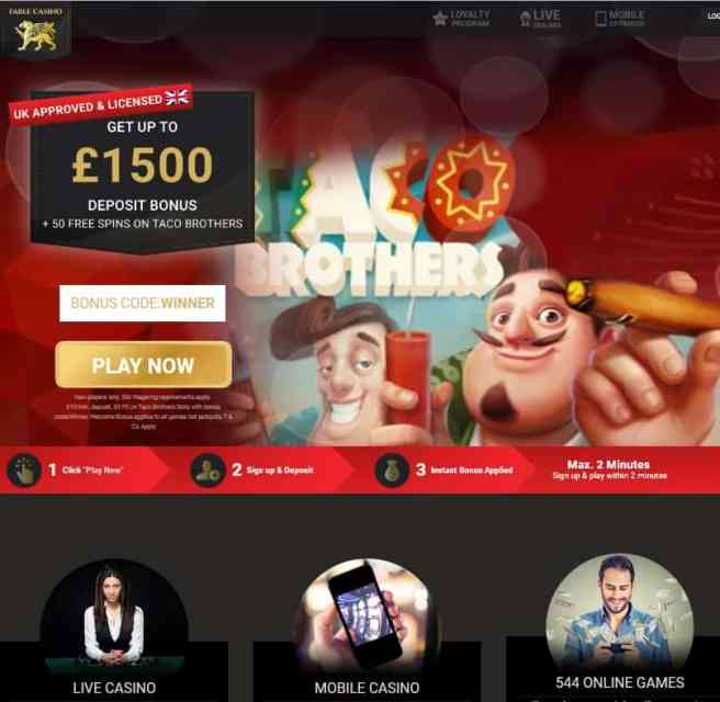 Fable Casino Online & Mobile - free bonus