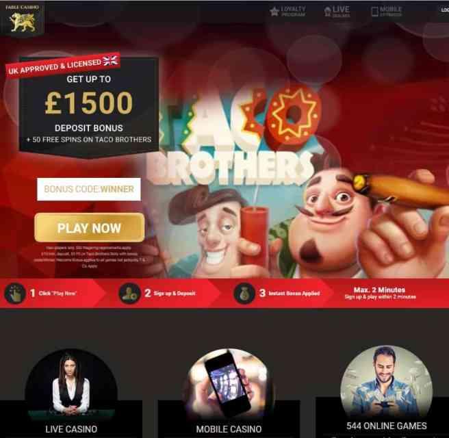 Fable Casino Online & Mobile - free bonus