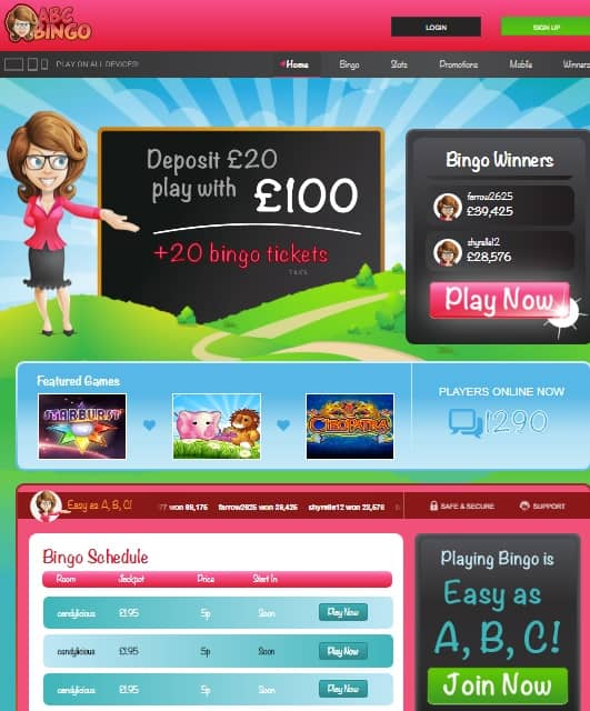 ABC Bingo Online UK