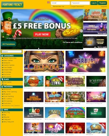 Fortune Frenzy Casino Online - free games and bonuses