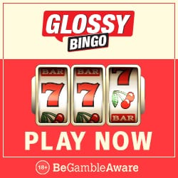 Glossy Bingo Casino 40 gratis free spins & £300 new player bonus